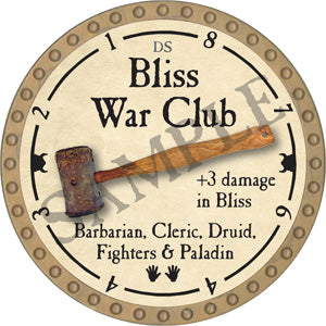 Bliss War Club - 2018 (Gold)