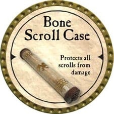 Bone Scroll Case - 2007 (Gold)