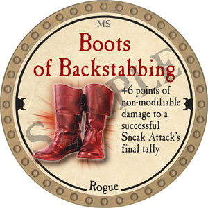 Boots of Backstabbing - 2018 (Gold)