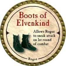 Boots of Elvenkind - 2007 (Gold)