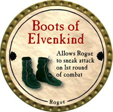 Boots of Elvenkind - 2011 (Gold) - C37