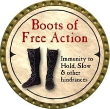Boots of Free Action - 2007 (Gold) - C37