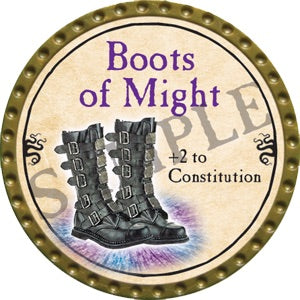 Boots of Might - 2016 (Gold) - C48