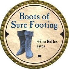 Boots of Sure Footing - 2008 (Gold)