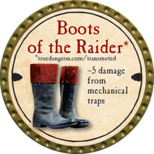 Boots of the Raider - 2014 (Gold)