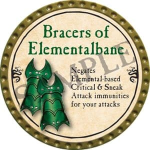 Bracers of Elementalbane - 2016 (Gold)