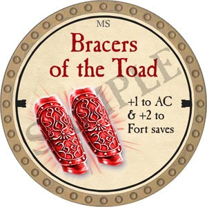 Bracers of the Toad - 2020 (Gold)