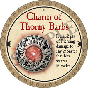 Charm of Thorny Barbs - 2018 (Gold) - C37