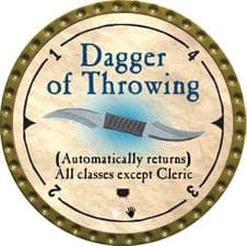 Dagger of Throwing - 2007 (Gold)