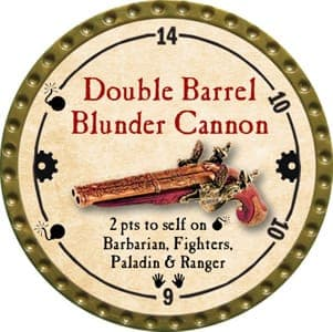Double Barrel Blunder Cannon - 2013 (Gold)