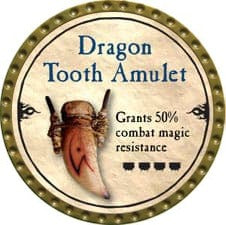 Dragon Tooth Amulet - 2010 (Gold) - C37