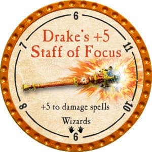 Drake's +5 Staff of Focus - 2015 (Orange) - C1