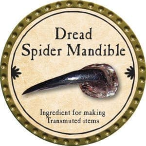 Dread Spider Mandible - 2015 (Gold) - C37