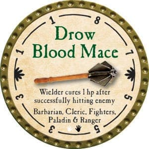 Drow Blood Mace - 2015 (Gold)