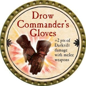 Drow Commander's Gloves - 2015 (Gold)