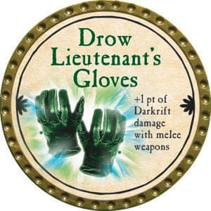 Drow Lieutenant's Gloves - 2015 (Gold)