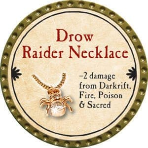 Drow Raider Necklace - 2015 (Gold)
