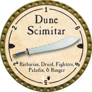 Dune Scimitar - 2014 (Gold)