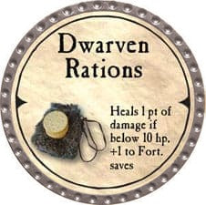 Dwarven Rations - 2007 (Platinum) - C37