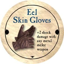 Eel Skin Gloves - 2011 (Gold) - C26