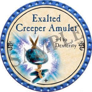 Exalted Creeper Amulet - 2016 (Light Blue) - C26