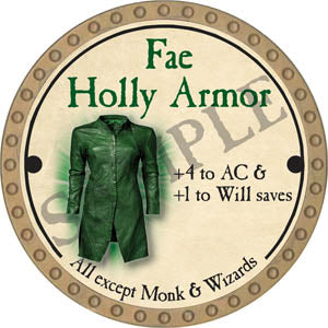 Fae Holly Armor - 2017 (Gold)