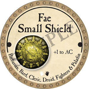Fae Small Shield - 2017 (Gold)
