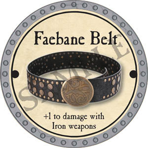 Faebane Belt - 2017 (Platinum)