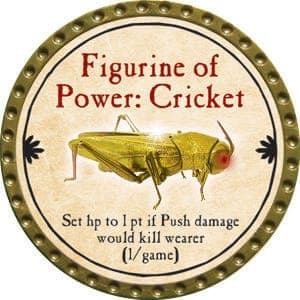 Figurine of Power: Cricket - 2015 (Gold) - C10