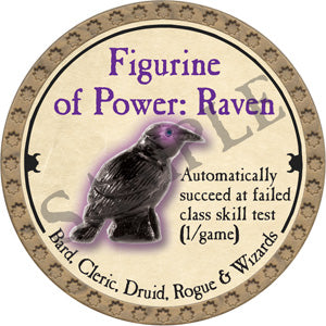 Figurine of Power: Raven - 2018 (Gold)