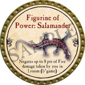 Figurine of Power: Salamander - 2016 (Gold) - C10