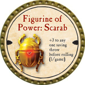 Figurine of Power: Scarab - 2014 (Gold)