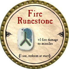 Fire Runestone - 2010 (Gold)