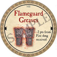 Flameguard Greaves - 2018 (Gold) - C37
