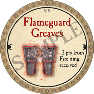 Flameguard Greaves - 2018 (Gold) - C22