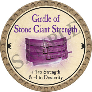 Girdle of Stone Giant Strength - 2018 (Gold)