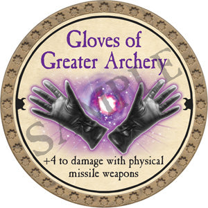 Gloves of Greater Archery - 2018 (Gold) - C12