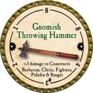 Gnomish Throwing Hammer - 2013 (Gold)