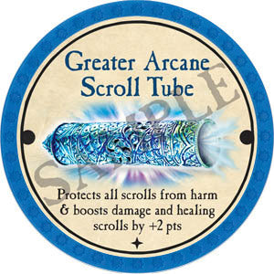 Greater Arcane Scroll Tube - 2017 (Light Blue) - C37