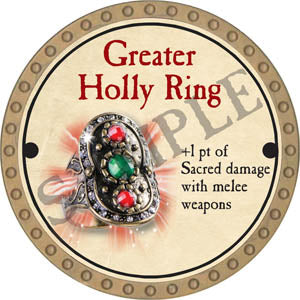 Greater Holly Ring - 2017 (Gold) - C58