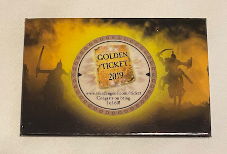 True Dungeon Golden Ticket Button - 2019