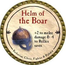 Helm of the Boar - 2009 (Gold)
