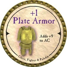 +1 Plate Armor - 2007 (Gold) - C38