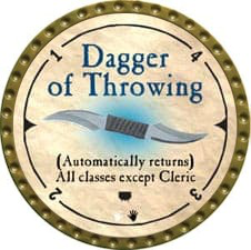 Dagger of Throwing - 2007 (Gold) - C12