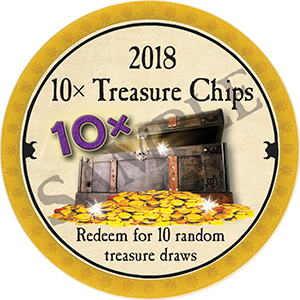 10x Treasure Chips - 2018 (Dark Yellow) - C1