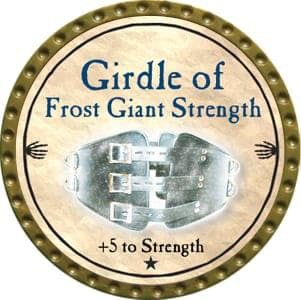 Girdle of Frost Giant Strength - 2012 (Gold) - C1