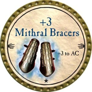 +3 Mithral Bracers - 2012 (Gold) - C44
