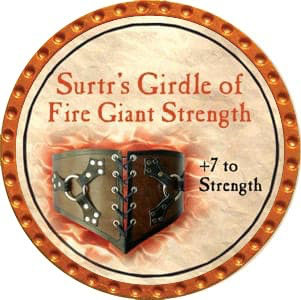 Surtr's Girdle of Fire Giant Strength - 2012 (Orange) - C1