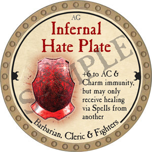 Infernal Hate Plate - 2018 (Gold)