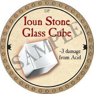 Ioun Stone Glass Cube - 2018 (Gold) - C22